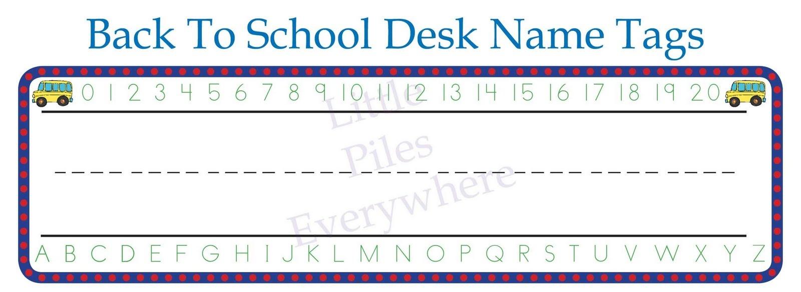 Free Printable Name Tags For Classroom Desks - Hostgarcia - Free Printable Name Tags For School Desks