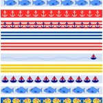 Free Printable Nautical Planner Stickers : Borders   Fake Masking   Free Printable Borders For Scrapbooking