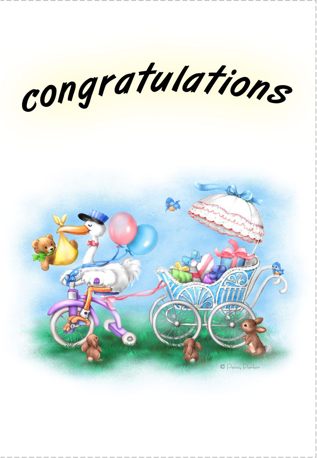 Free Printable New Baby Congratulations Greeting Card | Quotes - Free Printable Congratulations Baby Cards