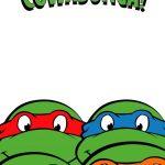 Free Printable Ninja Turtle Birthday Party Invitations – Bagvania   Free Ninja Turtle Printables
