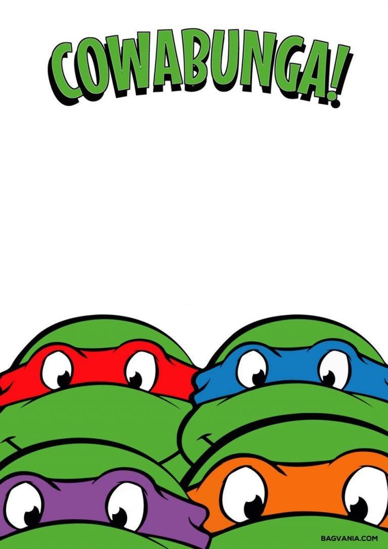 Free Printable Ninja Turtle Birthday Party Invitations – Bagvania - Free Ninja Turtle Printables