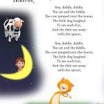 Free Printable Nursery Rhyme Lyrics Page. , Hey Diddle Diddle, Hey   Free Printable Nursery Rhymes Songs