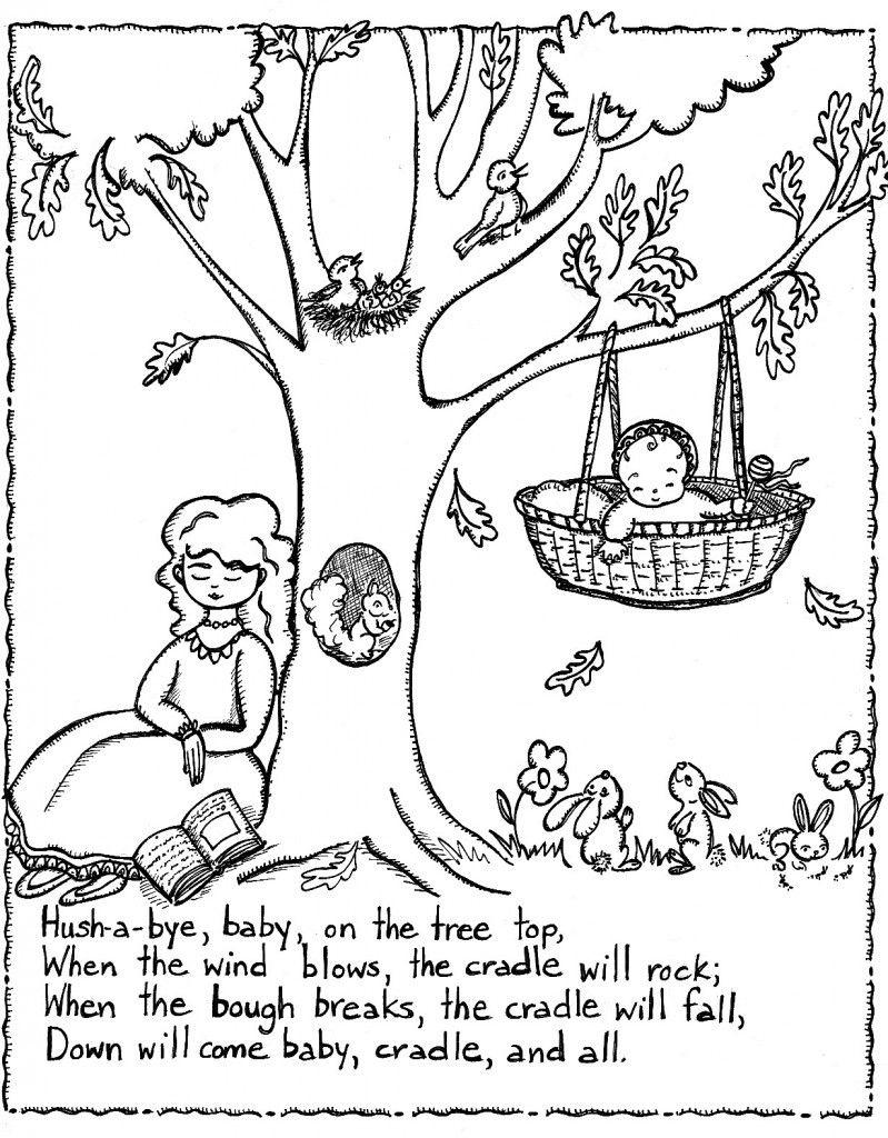 Free Printable Nursery Rhymes Coloring Pages For Kids   Rhyming - Free Printable Nursery Rhymes
