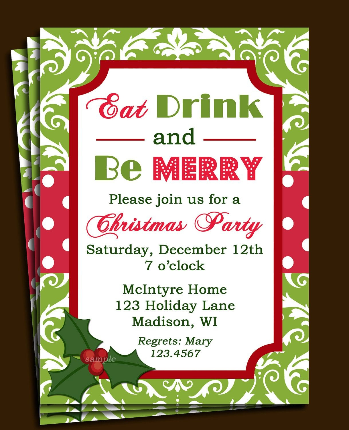 Free Printable Office Christmas Party Invitations | Party Stuff - Free Online Printable Christmas Party Invitations