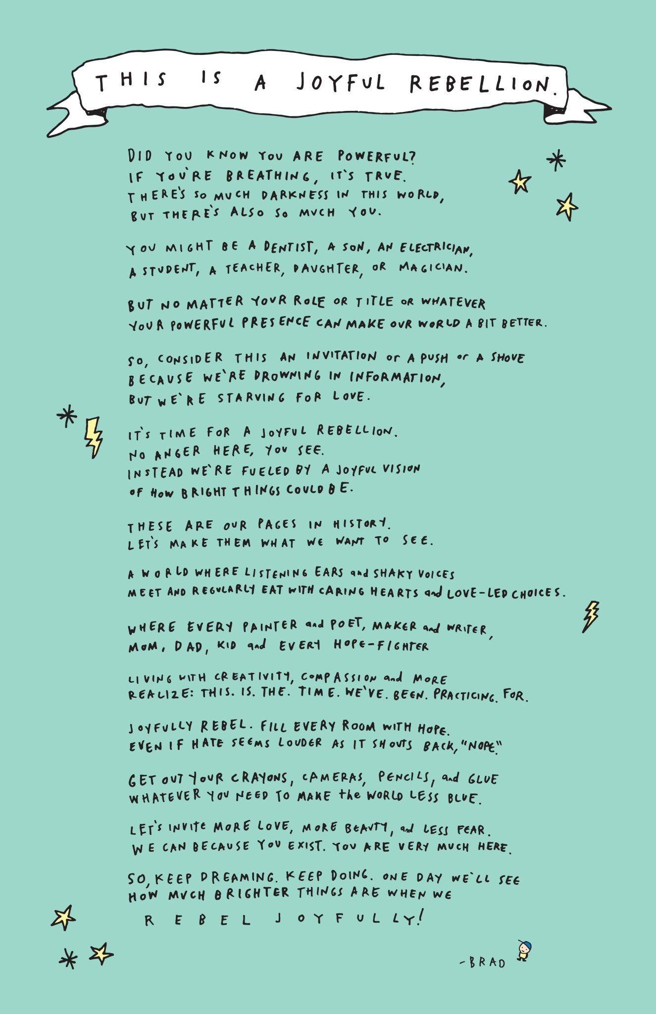 Free Printable! Our Joyful Rebellion Manifesto! #joyfulrebellion - Free Printable Romantic Poems