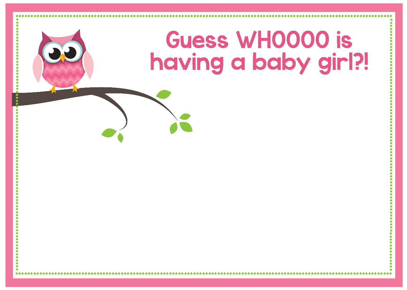 Free Printable Owl Baby Shower Invitations {& Other Printables} - Free Printable Baby Shower Invitations For Girls