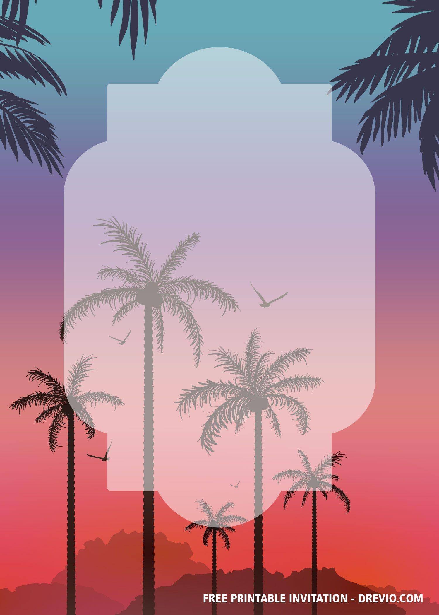 Free Printable Palm Tree Invitation Templates | Bagvania Invitation - Free Printable Palm Tree Template