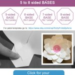 Free Printable Paper Flower Bases (5 8 Sided) | Flower Temple | Free   Free Printable Templates For Large Paper Flowers