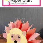 Free Printable Paper Hedgehog Craft | Kids Crafts | Hedgehog Craft   Free Printable Paper Crafts