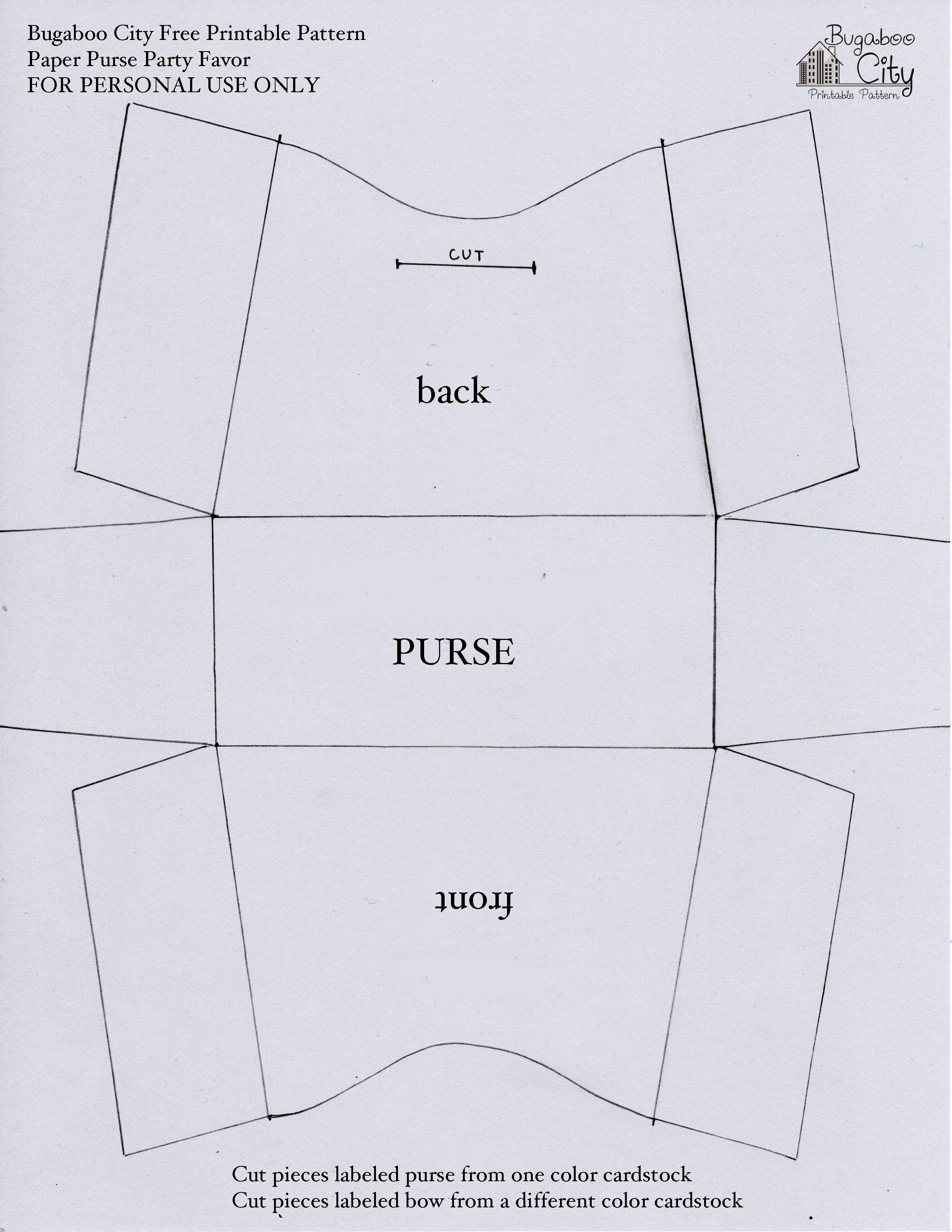 Free Printable Paper Purse Patterns | Felt | Leather Bag Pattern - Handbag Patterns Free Printable
