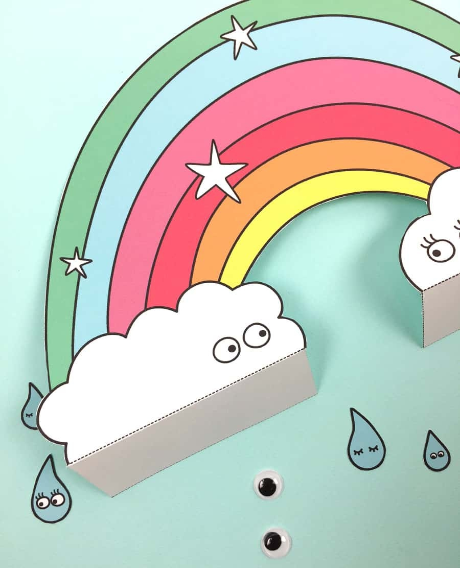 Free Printable Paper Rainbow With Coloring Option - Free Rainbow Printables