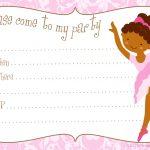 Free Printable Party Invitations: Printable Free Ballerina Party   Free Printable Ballerina Birthday Invitations