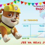 Free Printable Paw Patrol Invitation Template   All Characters   Paw Patrol Free Printables Invitations