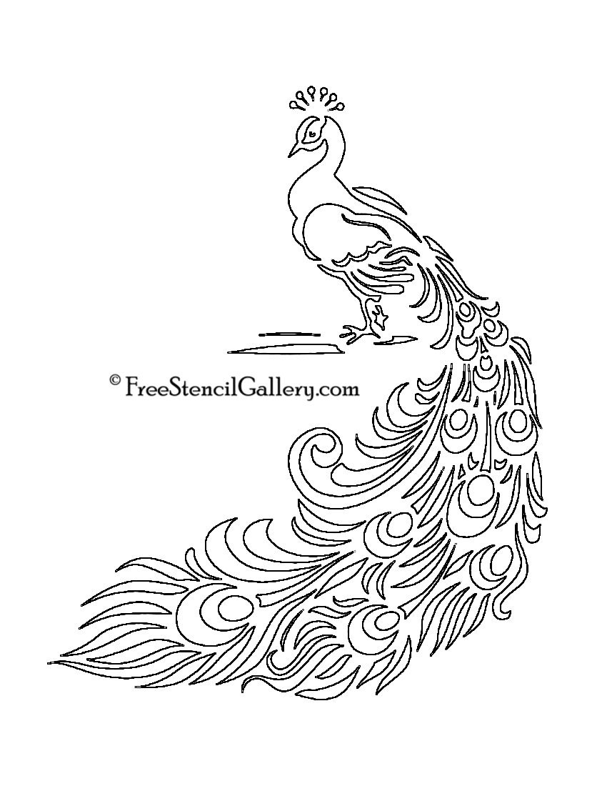 Free Printable Peacock Template   Free Stencil Gallery   Artsy - Free Printable Peacock Pictures