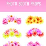 Free Printable Photo Booth Flower Crown Props For Your Wedding   Free Printable Photo Booth Props Bridal Shower