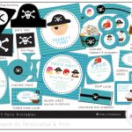 Free Printable Pirate Party Invitations Templates | Birthday In 2019   Free Printable Pirate Cupcake Toppers