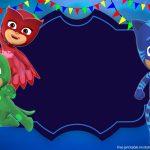 Free Printable Pj Masks Invitation Template | Bagvania Invitation In   Free Printable Pj Masks Invitations