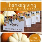 Free Printable Place Card Template, Perfect For Your Thanksgiving   Free Printable Halloween Place Cards