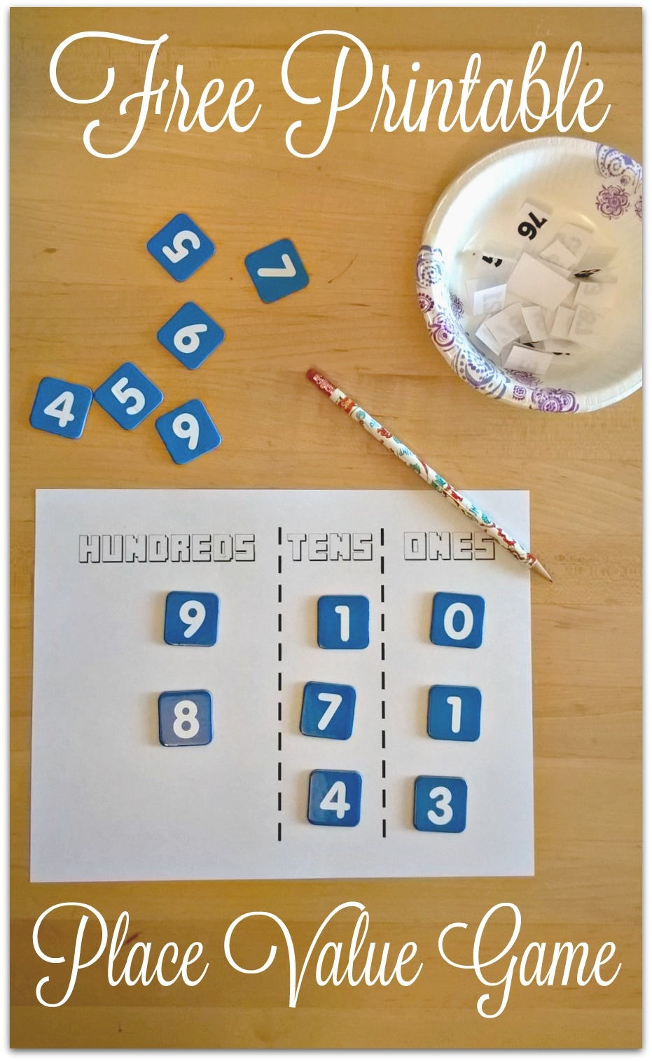 Free Printable Place Value Game - Place Value Game Printable Free