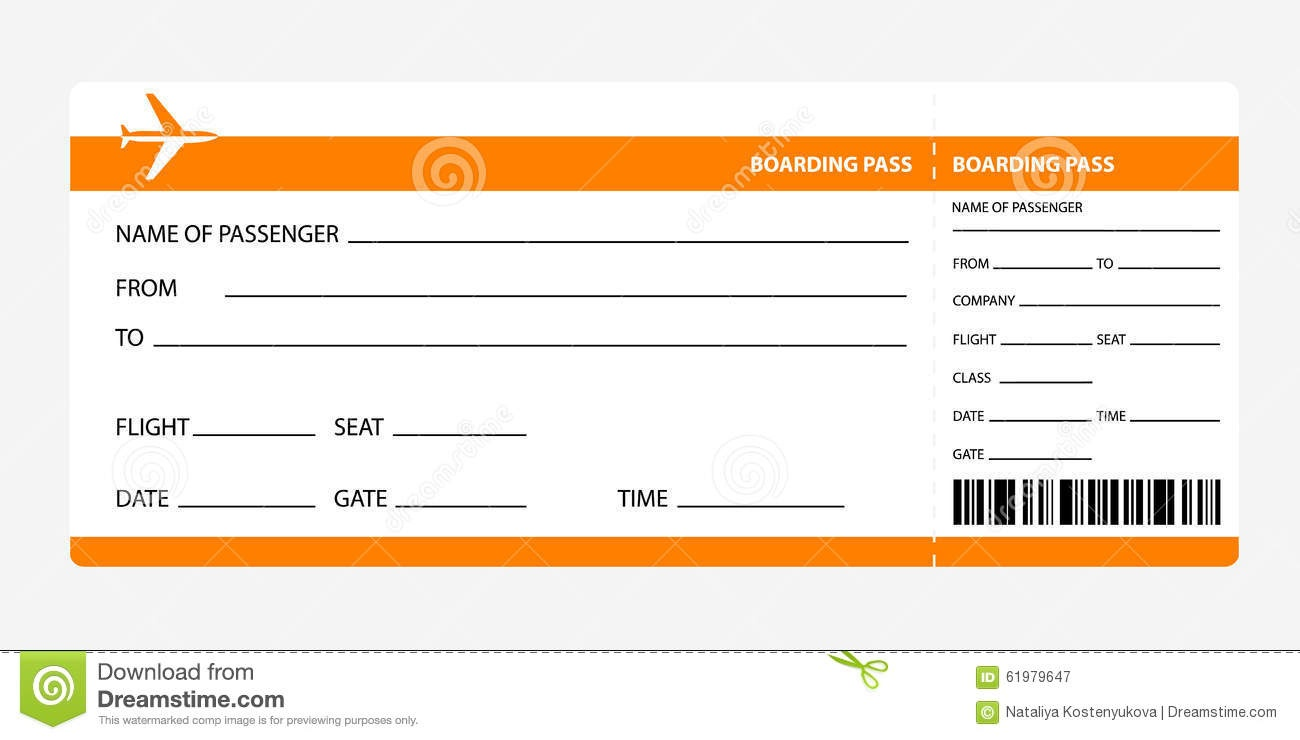 Free Printable Plane Ticket Template - Tutlin.psstech.co - Free Printable Airline Ticket Template