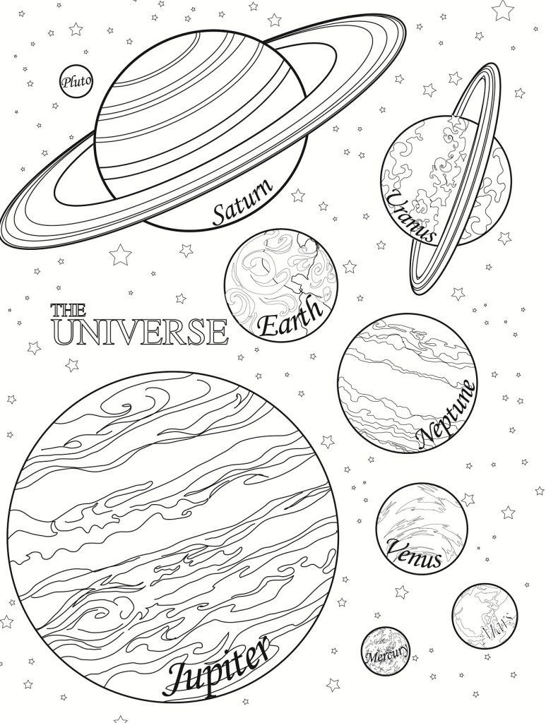 Free Printable Planet Coloring Pages For Kids   Space   Planet - Free Printable Pictures Of Planets