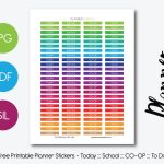 Free Printable Planner Stickers – Planner Addiction   Free Printable Months Of The Year Labels