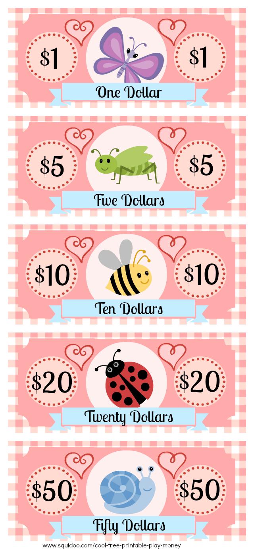 Free Printable Play Money Kids Will Love | Fake Monopoly Bills - Free Printable Play Dollar Bills