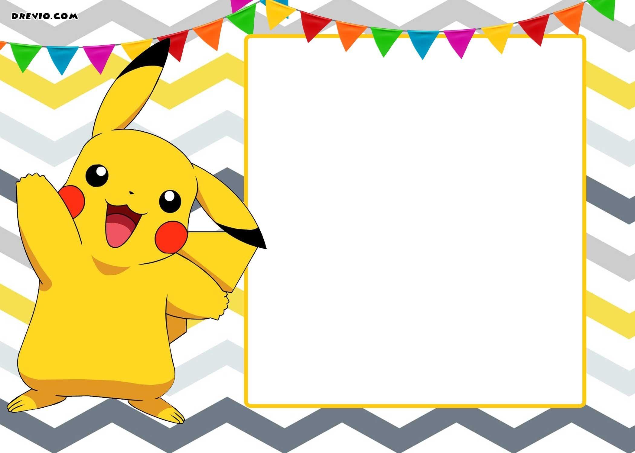 Free Printable Pokemon Invitation Templates   Birthday Party   Party - Pokemon Invitations Printable Free
