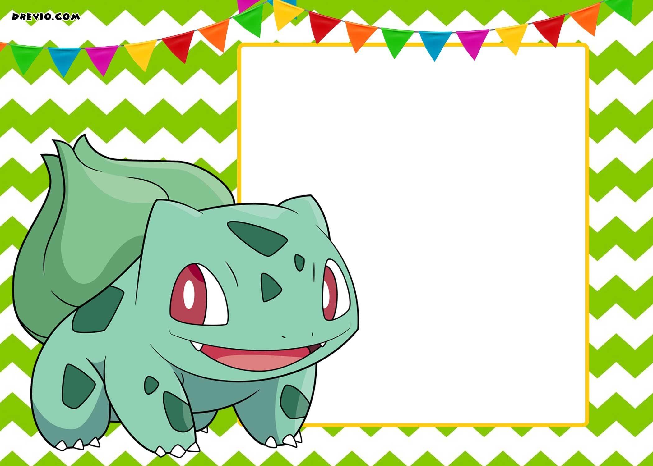 Free Printable Pokemon Invitation Templates | Free Printable - Free Printable Pokemon Birthday Invitations