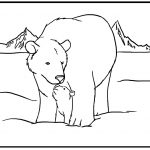 Free Printable Polar Bear Coloring Pages For Kids   Polar Bear Printable Pictures Free