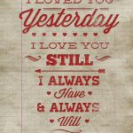 Free Printable Poster – Vintage Valentine Wall Art | Valentine's Day   Free Printable Typography Posters