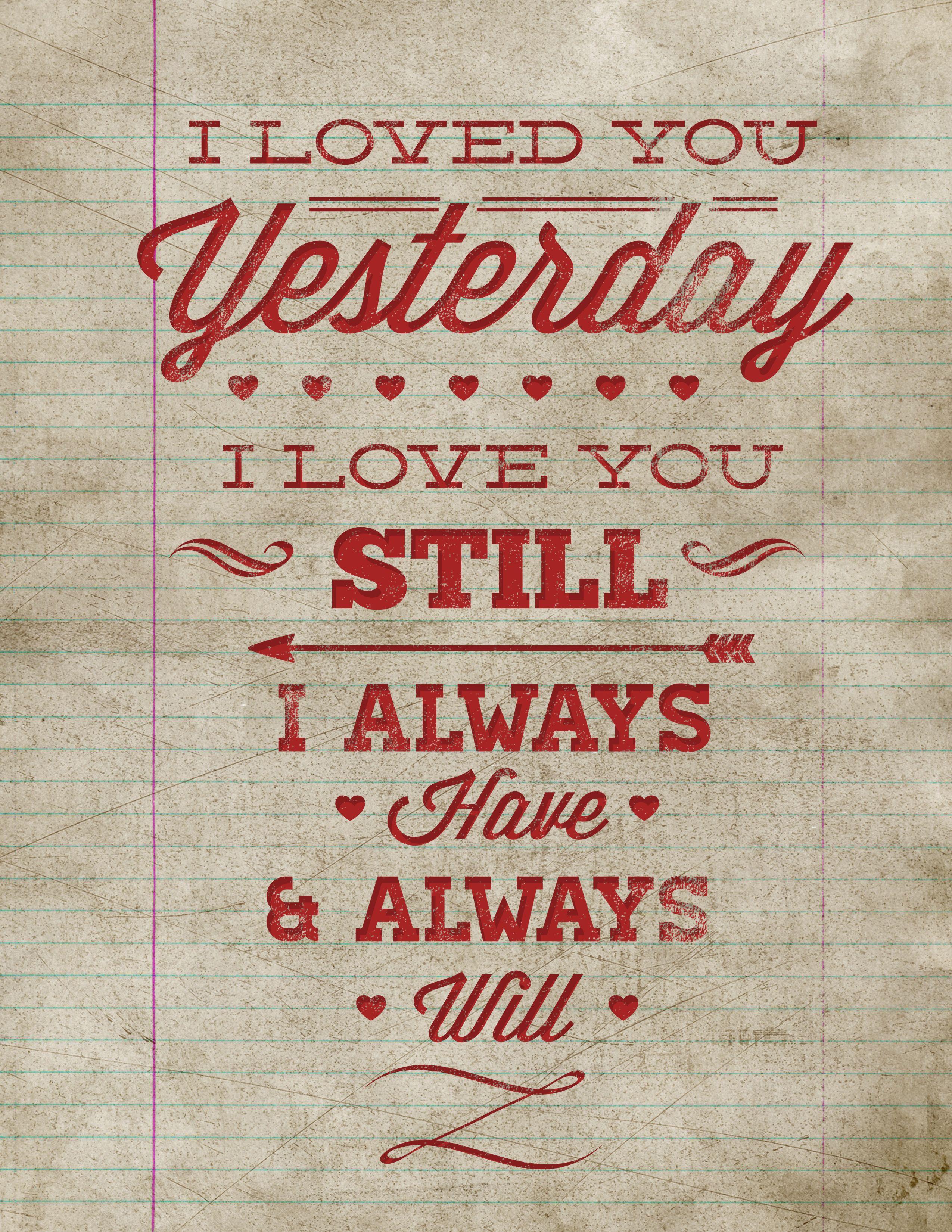 Free Printable Poster – Vintage Valentine Wall Art | Valentine's Day - Free Printable Typography Posters