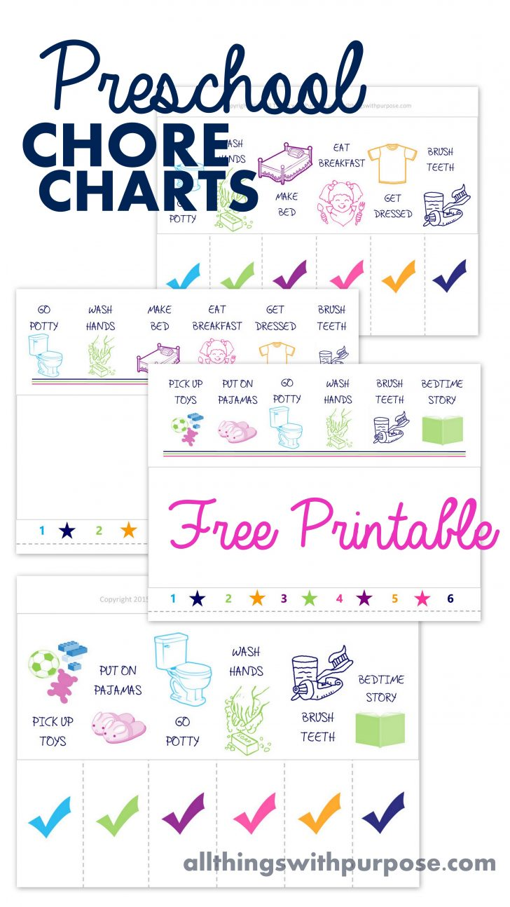 Free Printable Morning Routine Charts With Pictures