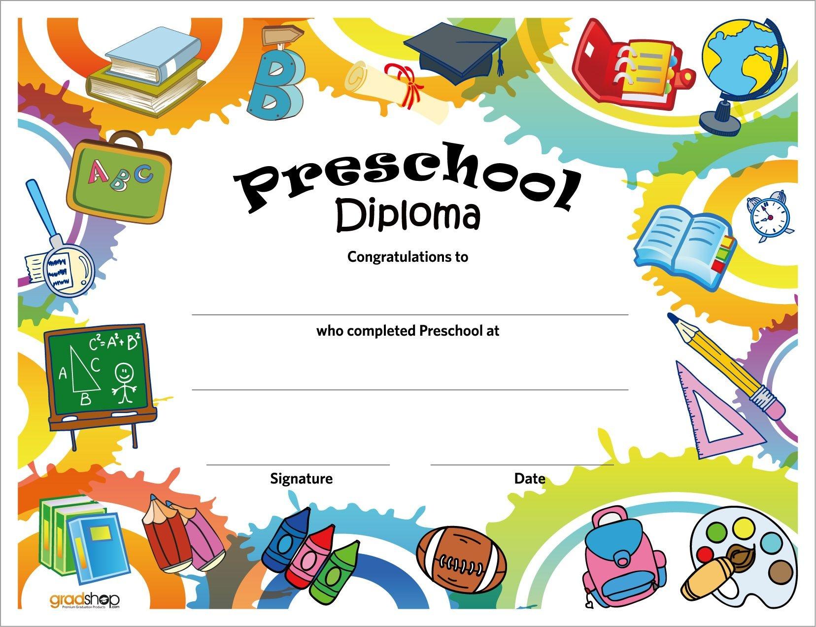 Free Printable Preschool Diplomas | Preschool Classroom | Graduation - Free Printable Preschool Diplomas
