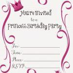 Free Printable Princess Birthday Party Invitations | Printables   Free Printable Birthday Party Invitations