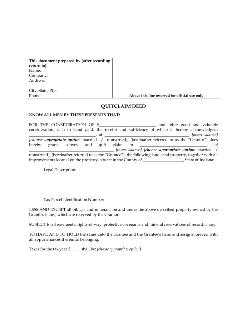 Free Printable Quit Claim Deed Form Indiana Lovely Quit Claim Deed - Free Printable Quit Claim Deed Form Indiana