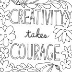 Free Printable Quote Coloring Pages For Grown Ups | Drawing And   Free Printable Coloring Pages For March