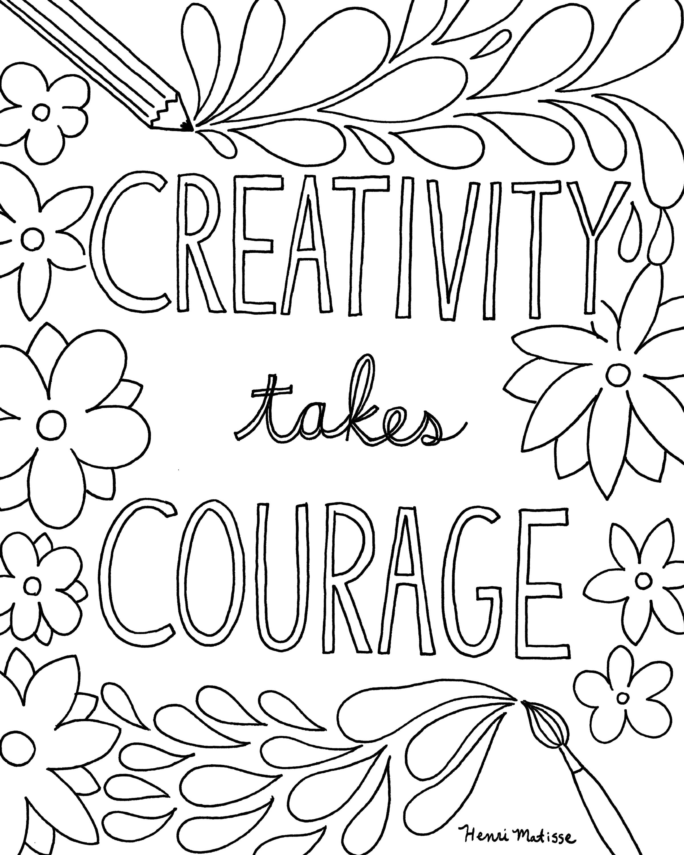 Free Printable Quote Coloring Pages For Grown-Ups | Drawing And - Free Printable Coloring Pages For March