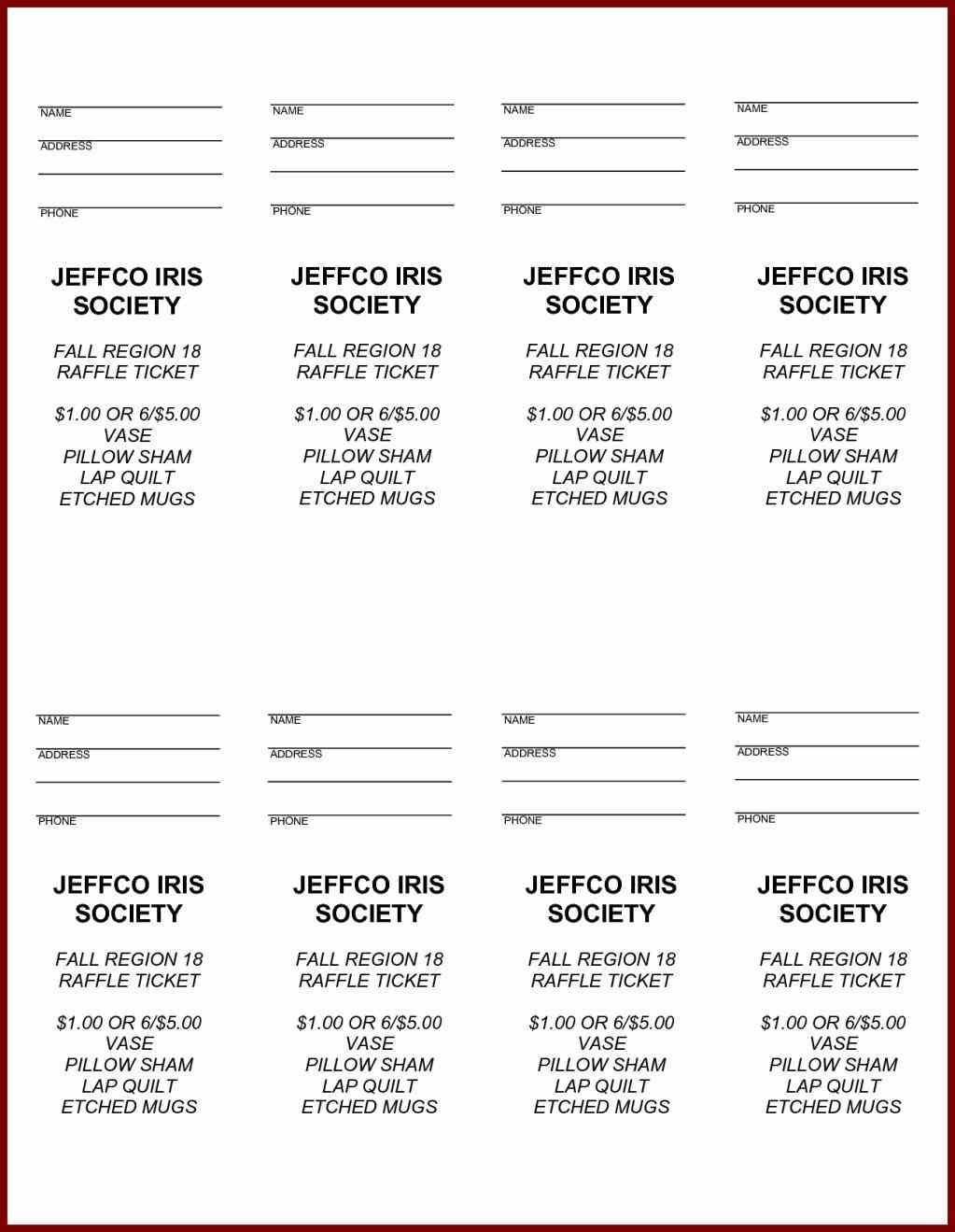 Free Printable Raffle Ticket Template Easytouse Free Raffle Ticket - Free Printable Tickets