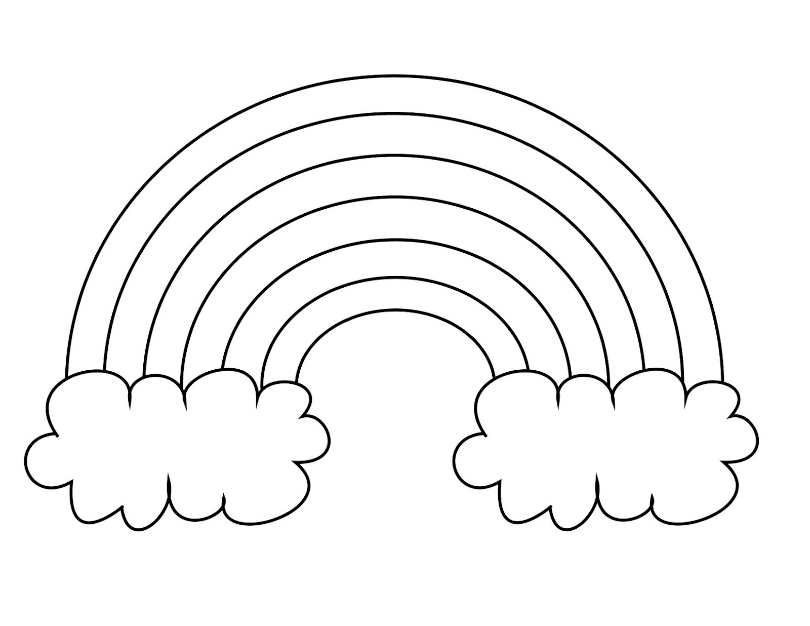 Free Printable Rainbow Coloring Pages For Kids - Free Rainbow Printables