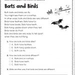 Free Printable Reading Comprehension Worksheets For Kindergarten   Free Printable Reading Passages With Questions
