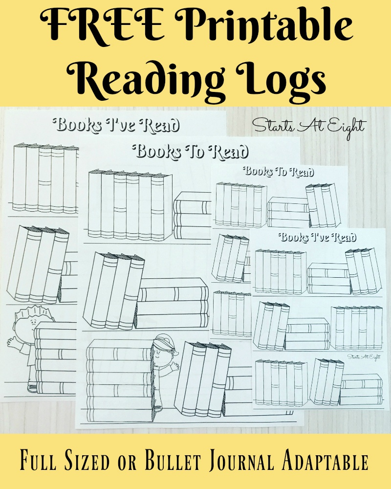 Free Printable Reading Logs ~ Full Sized Or Adjustable For Your - Free Printable Story Books For Grade 1