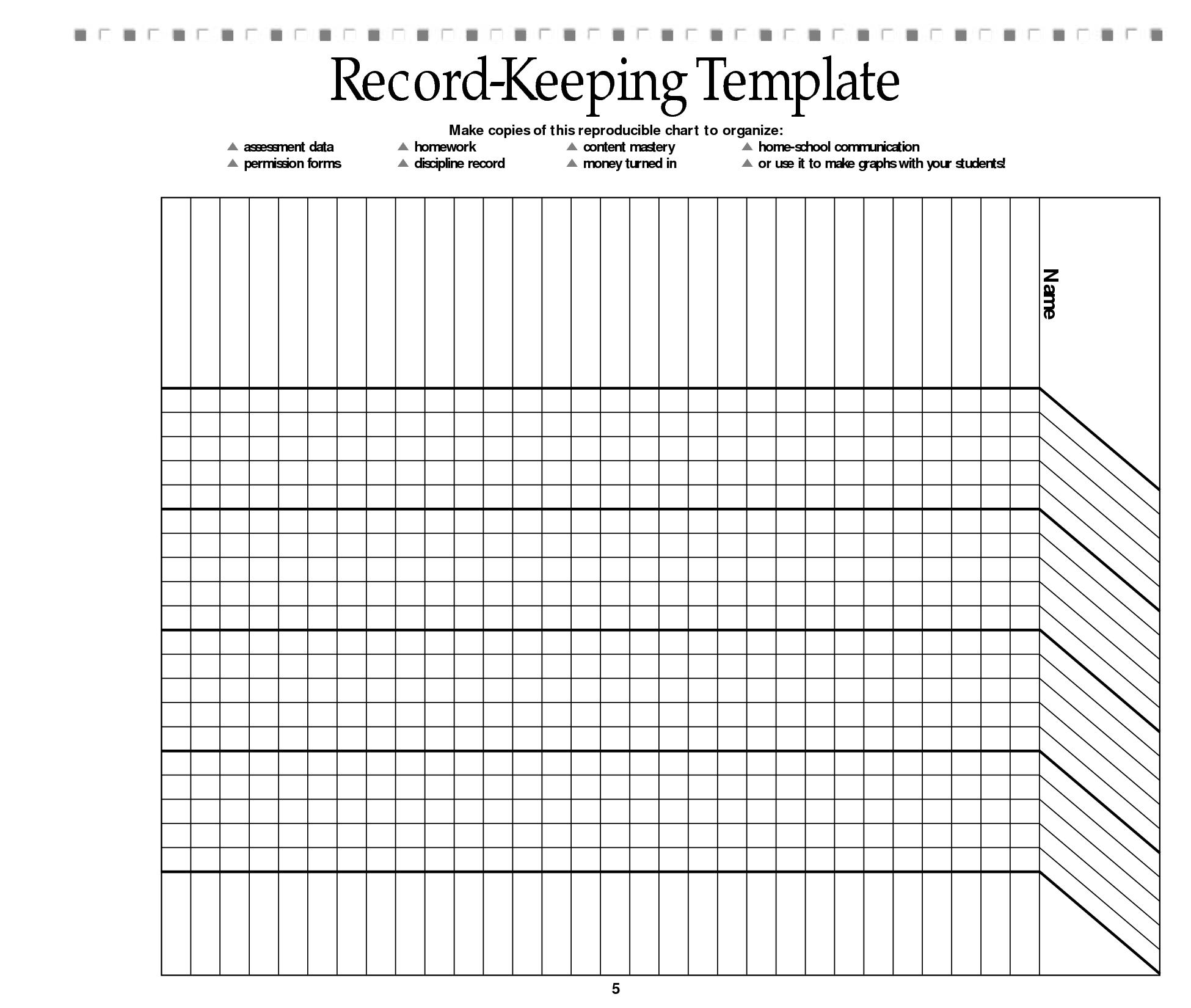 Free Printable Record Keeping Forms | Classroom | Homeschool - Free Printable Attendance Sheets For Homeschool