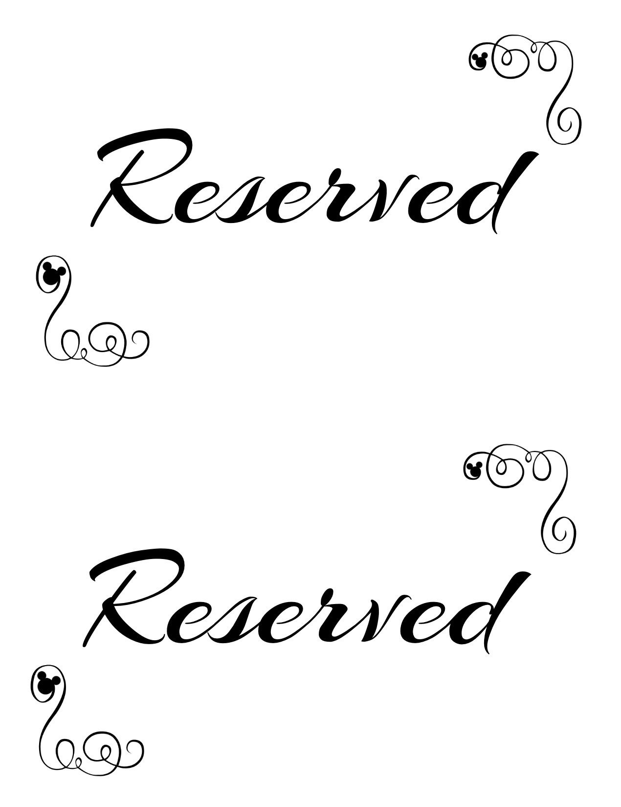 Free Printable Reserved Seating Signs For Your Wedding Ceremony - Free Printable Signs Templates