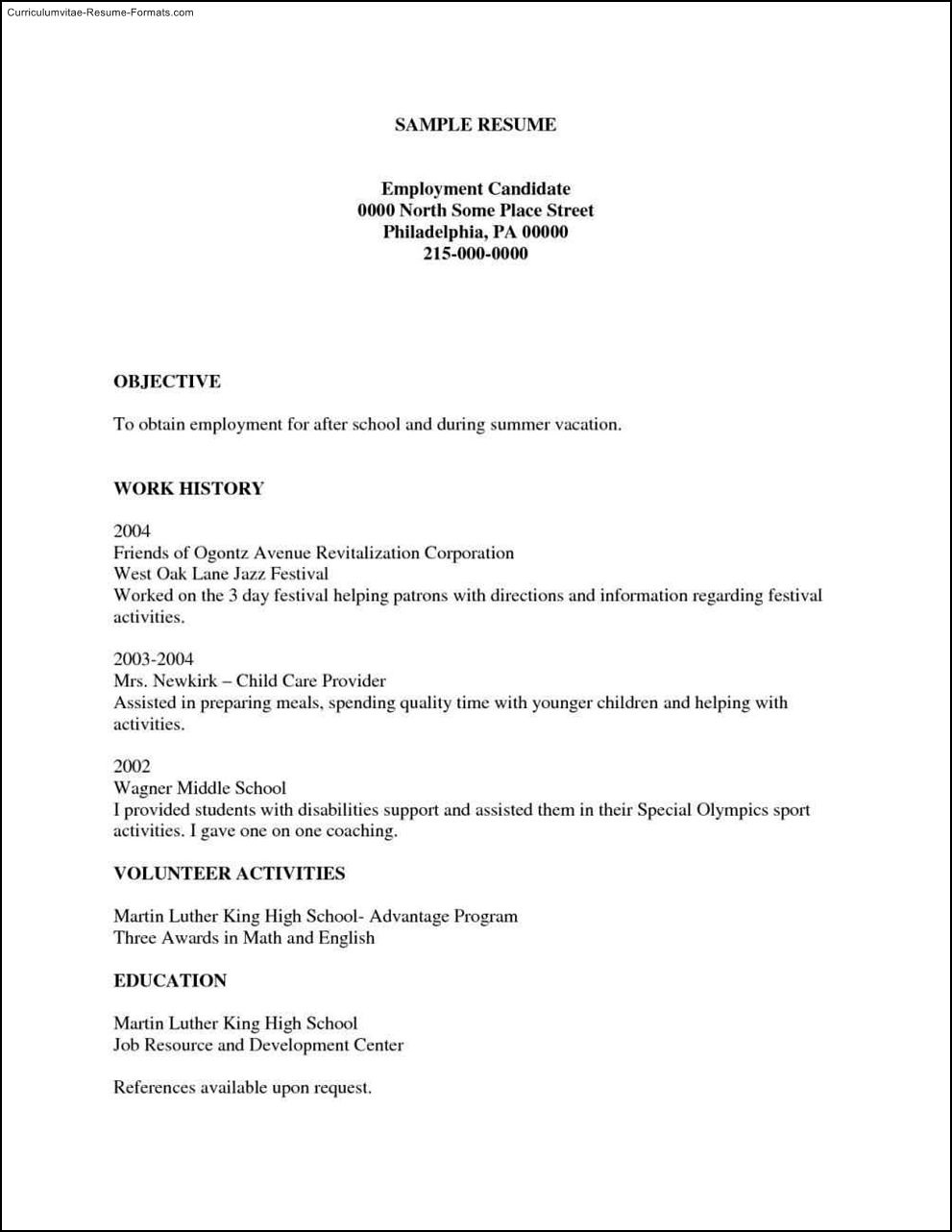 Free Printable Resumes Templates Free Samples Examples Format Resume - Free Online Printable Resume Forms