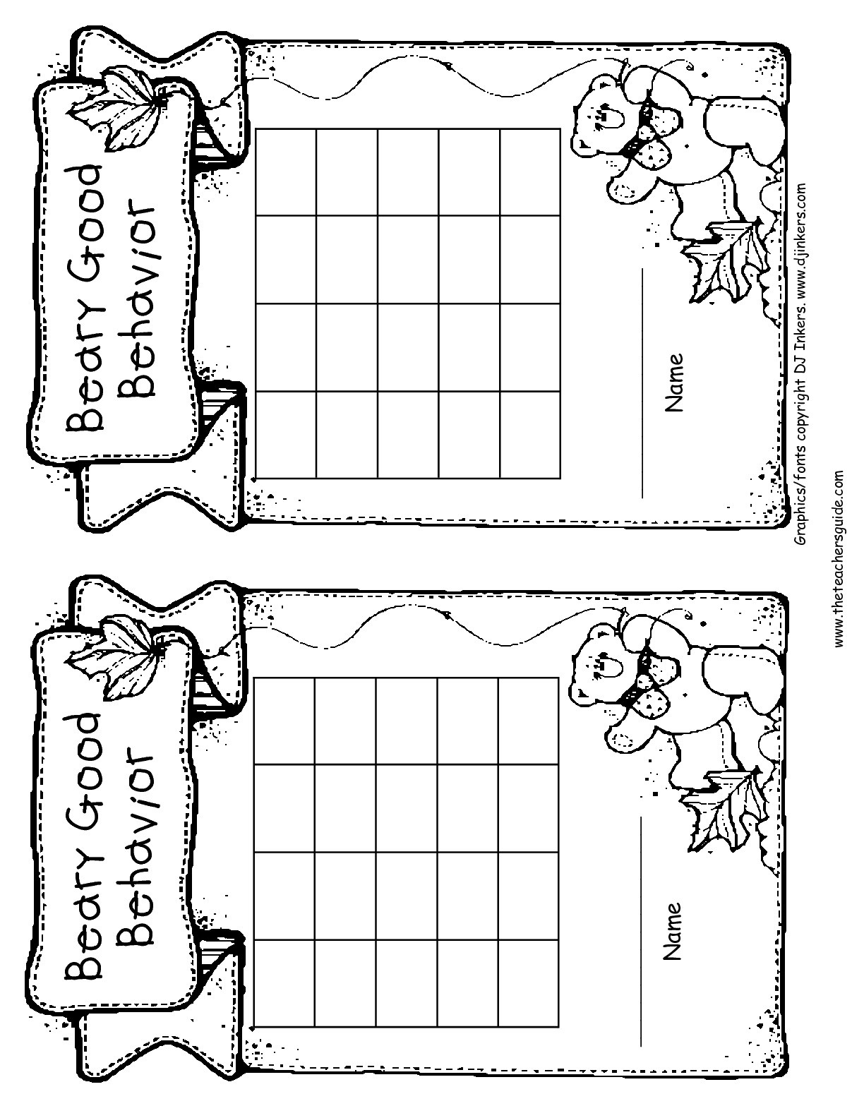 Free Printable Reward And Incentive Charts - Free Printable Charts For Classroom