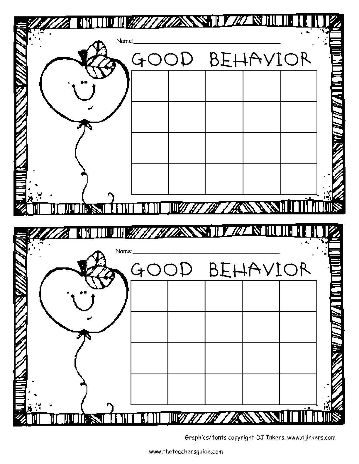 Free Printable Reward And Incentive Charts   Sticker Charts - Free Printable Charts For Classroom