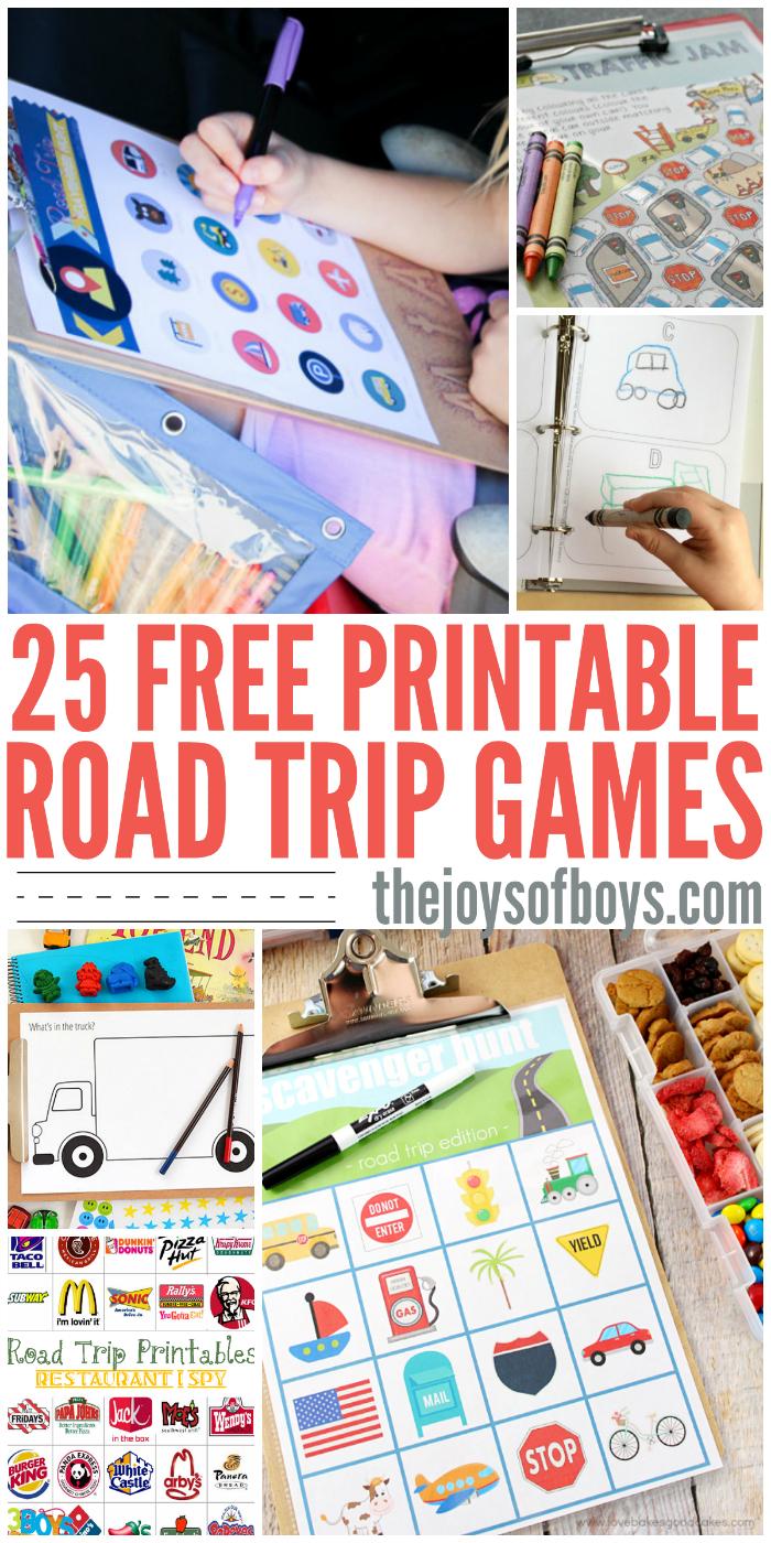 Free Printable Road Trip Games - Free Printable Car Ride Games