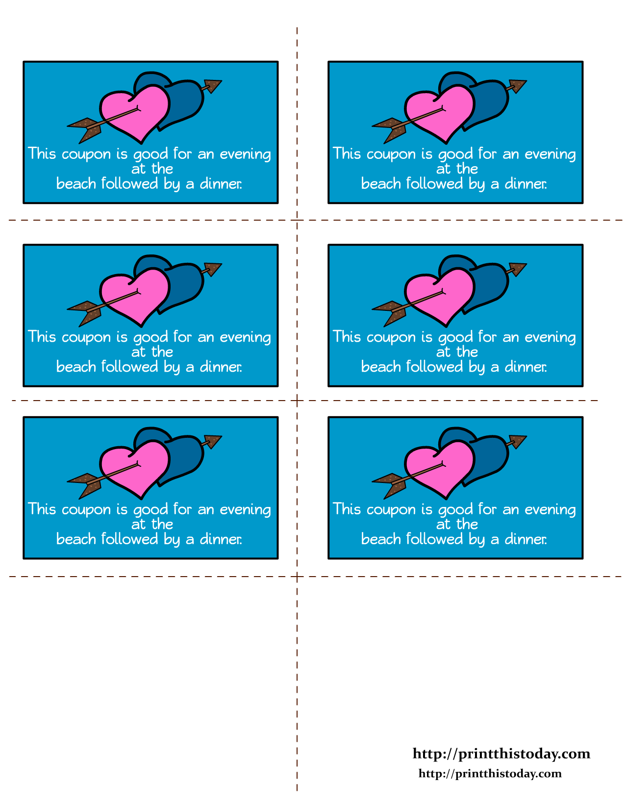 Free Printable Romantic Love Coupons - Love Coupons For Him Printable Free
