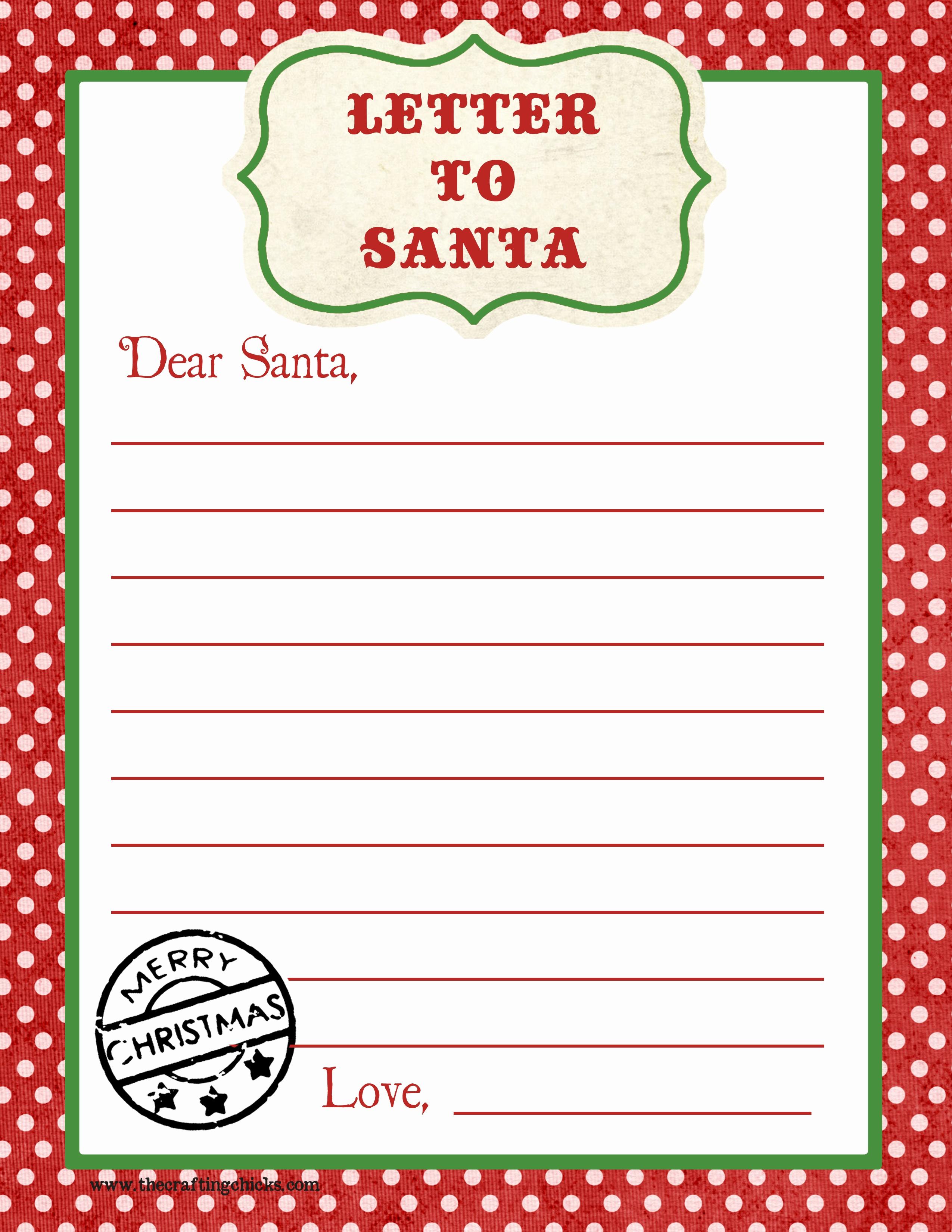 Free Printable Santa Letterhead Paper Letter To Santa Free Printable - Free Printable Santa Letter Paper